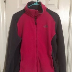 The North Face Womens Fleece Jacket Pink Gray